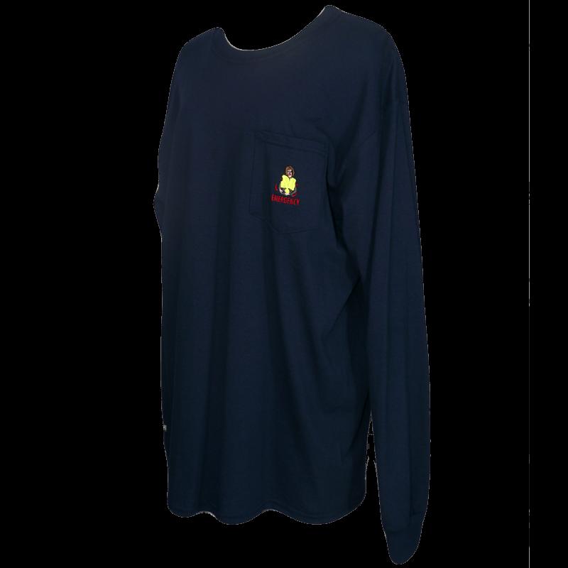 EMERGENCY ポケット付きロングTシャツ NAVY