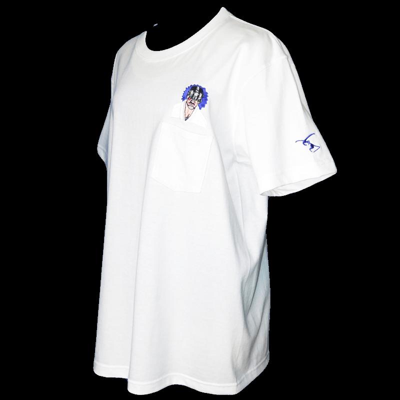 暗視スコープマン ポケットTシャツ白