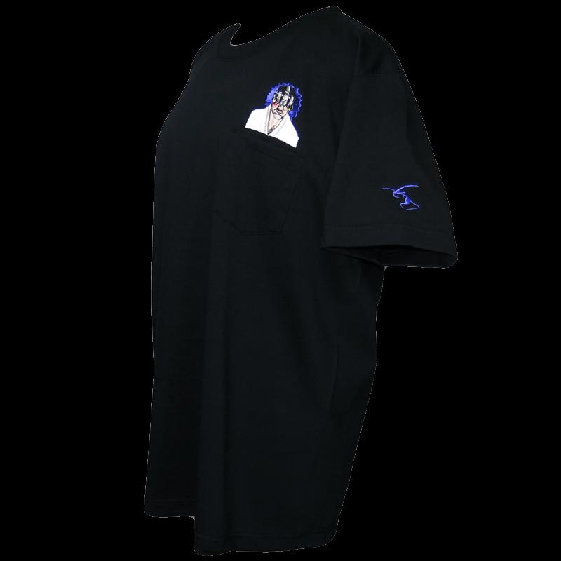 暗視スコープマン ポケットTシャツ黒