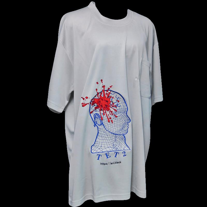 TET2 メッシュTシャツ (シルバーグレー)