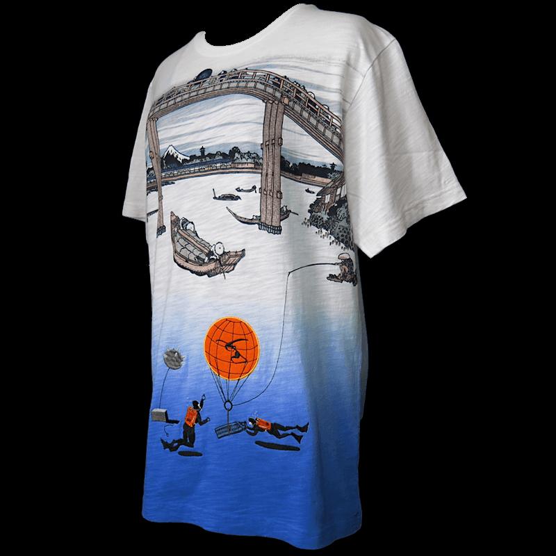 江戸 清澄 深川橋 水中 / 葵機雷処理班 Under Water Mine squad T - Hokusai rmx